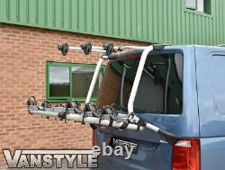 VW CARAVELLE T6 2015 GENUINE TAILGATE 4 BIKE BICYCLE HOLDER RACK With GAS STRUTS
