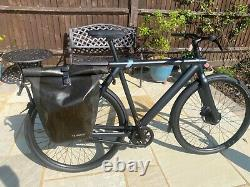 Vanmoof S3 electric bike dark grey only 85km rear rack and branded large pannier