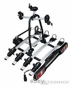 Veturo Bike Rack Towbar with Lighting 4 Cycle Rear Rack Carrier