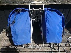 Vintage Carradine front and rear bike panniers and Blackburn racks