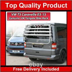 Vw Caravelle T5 T5.1 Genuine Oe Thule Tailgate 4 Bike Bicycle Holder Rack Rear