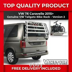 Vw Caravelle T6 Genuine Oe Tailgate 4 Bike Bicycle Cycle Holder Rack V2 T5 Style