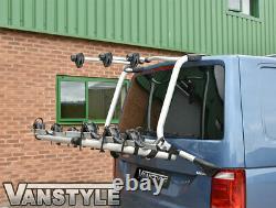 Vw T6 Transporter 15-19 Genuine 4 Bike Tailgate Bicycle Rack & 1200n Gas Struts