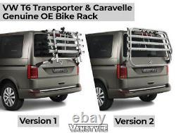 Vw Transporter T6 Genuine Oe Tailgate 4 Bike Bicycle Cycle Holder Rack V2 Mtb
