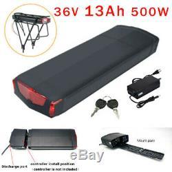 X-go 36V 13AH 500W Electric Bicycle E-bike Bike Lithium Battery LED Rear Rack