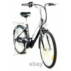 Z5 CITY DELUXE ELECTRIC BIKE 24 250W Brushless Motor with Mudguards & Rear Rack